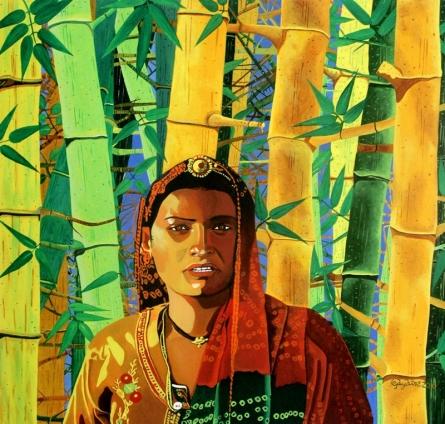 Fantasy Acrylic Art Painting title 'Untouchable Fidelity 1' by artist Gayatri Artist