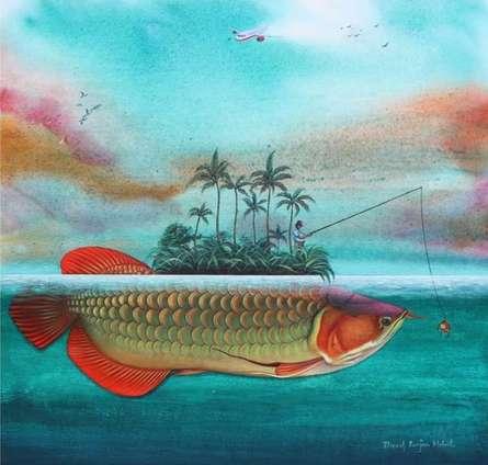 Animals Acrylic Art Painting title 'Hunting By Tempetation' by artist Bikash Mohanta