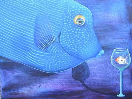 Animals Acrylic Art Painting title Untitled 11 by artist Bikash Mohanta