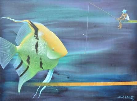 Animals Acrylic Art Painting title Untitled 17 by artist Bikash Mohanta