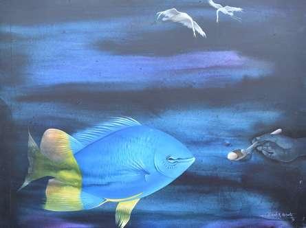Animals Acrylic Art Painting title Untitled 20 by artist Bikash Mohanta