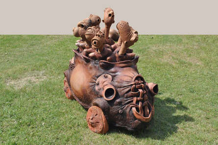 Mixedmedia Sculpture titled 'Home Sickness' by artist Deveshh Upadhyay