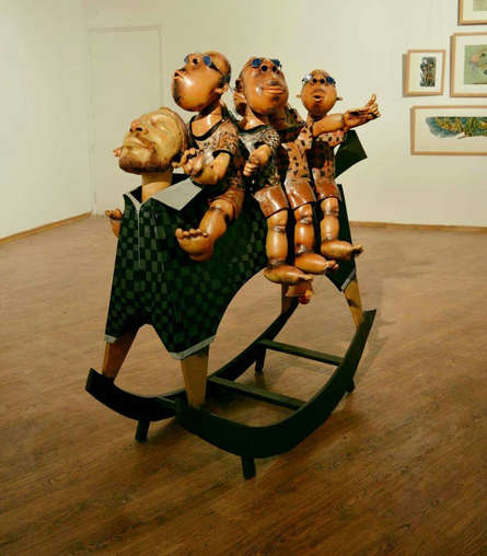 Ceramic Sculpture titled 'Riders' by artist Deveshh Upadhyay