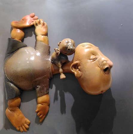 Ceramic Sculpture titled 'Vatsalya' by artist Deveshh Upadhyay