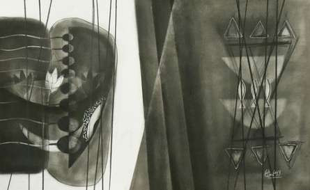 Abstract Charcoal Art Drawing title Untitled 7 by artist Narendra Jatav