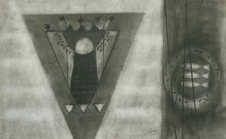 Abstract Charcoal Art Drawing title Untitled 8 by artist Narendra Jatav
