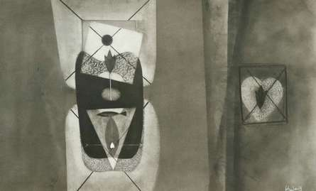 Abstract Charcoal Art Drawing title Untitled 9 by artist Narendra Jatav