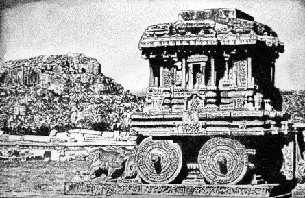 Religious Ink Art Drawing title Temple In Karnataka by artist Surya Murthy