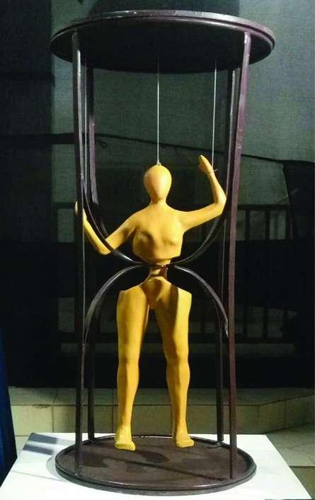 Mixedmedia Sculpture titled 'Time' by artist Tanzeem Baredia