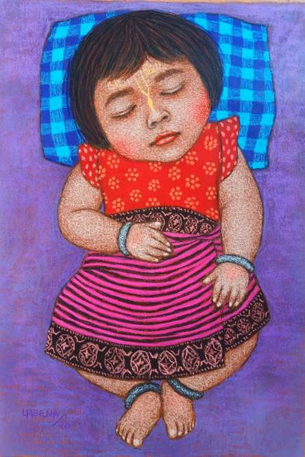 Figurative Dry-pastel Art Painting title Img-20201201-wa0019 by artist Meena Laishram