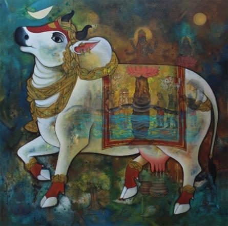 Surabhi | Painting by artist N P Rajeshwarr | acrylic | Canvas