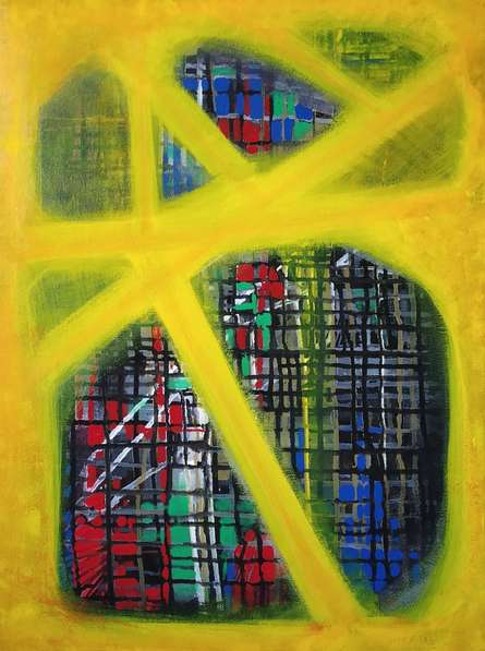 #abstract #yellow #acrylicpainting #canvaspainting