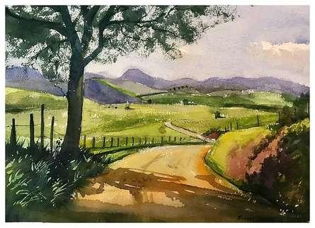 Landscape Watercolor Art Painting title Photo 2021-03-03 12-46-21 by artist KS Farvez