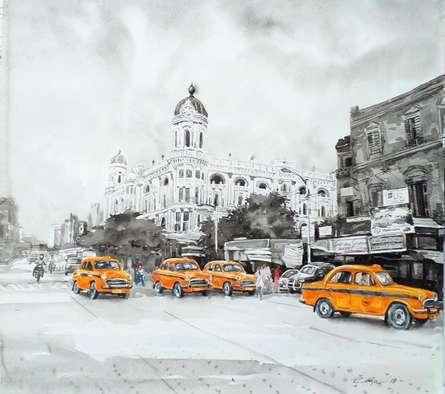 Cityscape Watercolor Art Painting title Kolkata 23 by artist Raju Sarkar