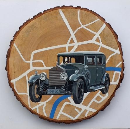 art, painting, acrylic, canvas, transportation