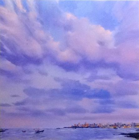 Seascape Oil Art Painting title Untitled 13 by artist Azharuuddin Inamdar