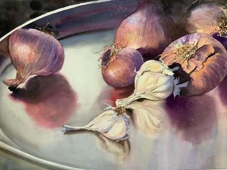 Still-life Watercolor Art Painting title The Kitchen 2 by artist Yojana Dehankar