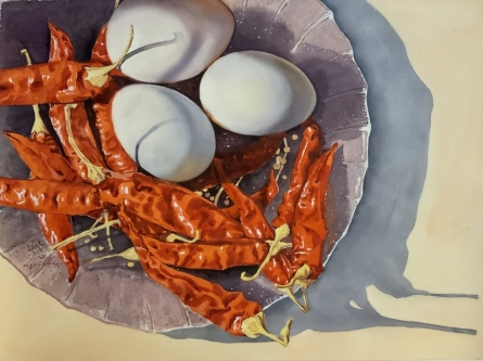 Still-life Watercolor Art Painting title The Kitchen 3 by artist Yojana Dehankar