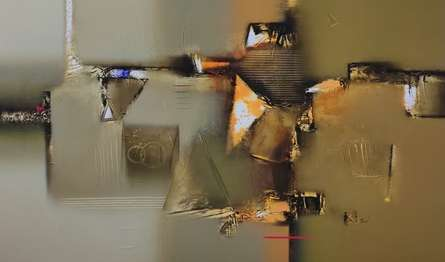 Abstract Acrylic Art Painting title Untitled 4 by artist Paras Parmar