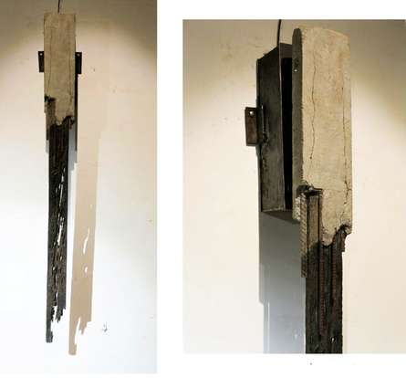 Mixedmedia Sculpture titled 'Time' by artist Abhishek Salve