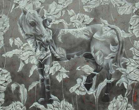 Figurative Acrylic Art Painting title Its All About Nature by artist Kriti K.C. Saxena
