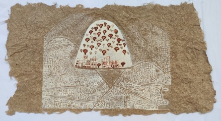 Mixed Media Painting titled 'Mumbai Local 2' by artist Kumar Misal on Paper