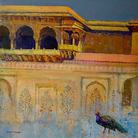 Cityscape Acrylic Art Painting title Heritage 2 by artist Sayajirao Nangare
