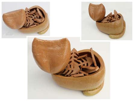 Ceramic Sculpture titled 'The Cat' by artist Souvik Das