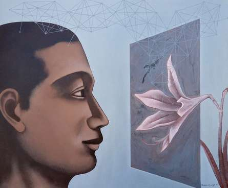 Figurative Acrylic Art Painting title Untitled 1 by artist Bibhas Baidya