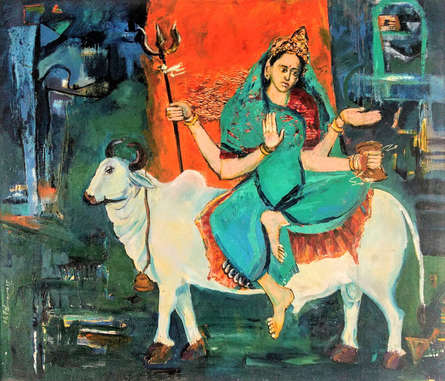 Religious Oil Art Painting title Untitled 1 by artist Subhash Babhulkar