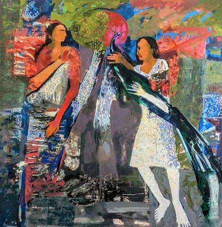 Figurative Acrylic Art Painting title Untitled 2 by artist Subhash Babhulkar