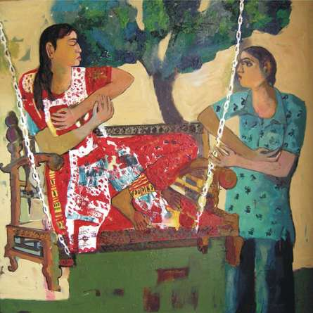 Figurative Oil Art Painting title Untitled 3 by artist Subhash Babhulkar