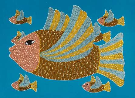 Animals Acrylic Art Painting title Untitled 6 by artist Venkat Shyam