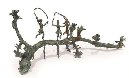 Bronze Sculpture titled 'Rhythm 8' by artist Mrinal Kanti