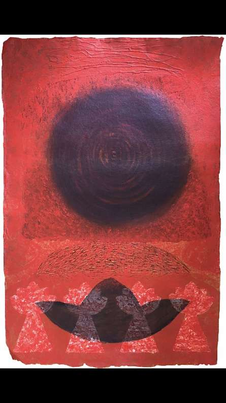 Religious Mixed-media Art Painting title Konāgamana by artist Anand Pratap