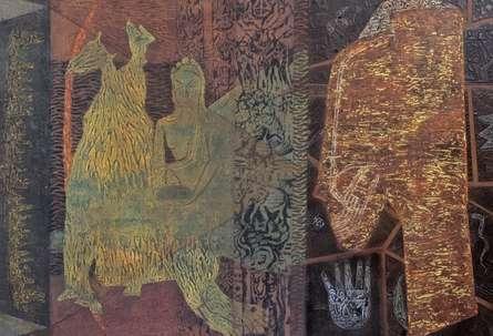 Religious Mixed-media Art Painting title Ajātasattu by artist Anand Pratap