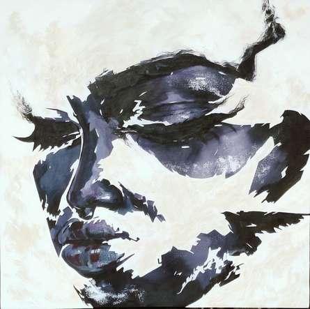 Portrait Acrylic Art Painting title Untitled 12 by artist Vijay Shelar