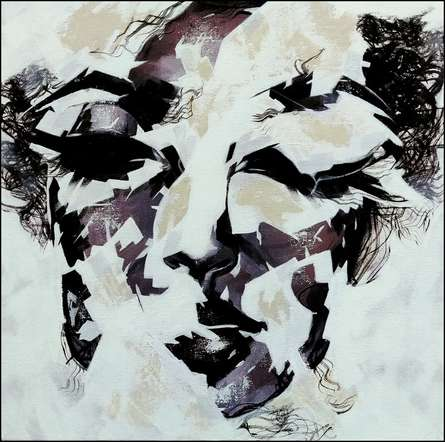 Portrait Acrylic Art Painting title Untitled 14 by artist Vijay Shelar