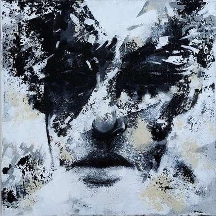 Portrait Acrylic Art Painting title Untitled 1 by artist Vijay Shelar