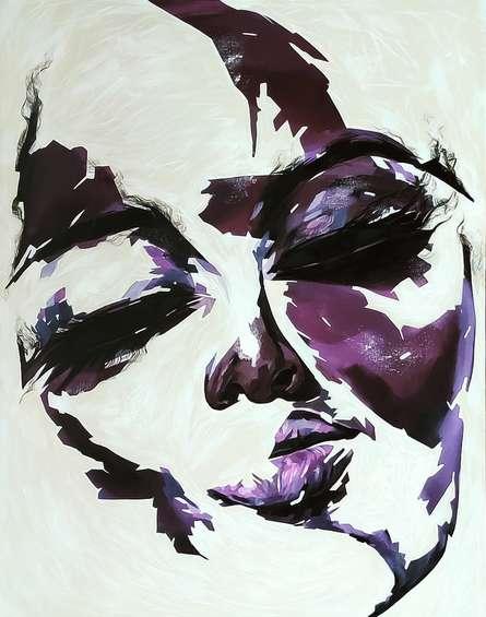 Portrait Acrylic Art Painting title Untitled 21 by artist Vijay Shelar
