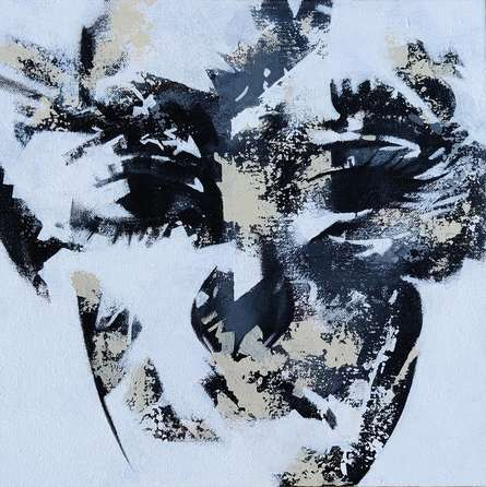 Portrait Acrylic Art Painting title Untitled 4 by artist Vijay Shelar