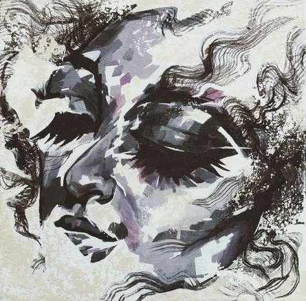Portrait Acrylic Art Painting title Untitled 5 by artist Vijay Shelar