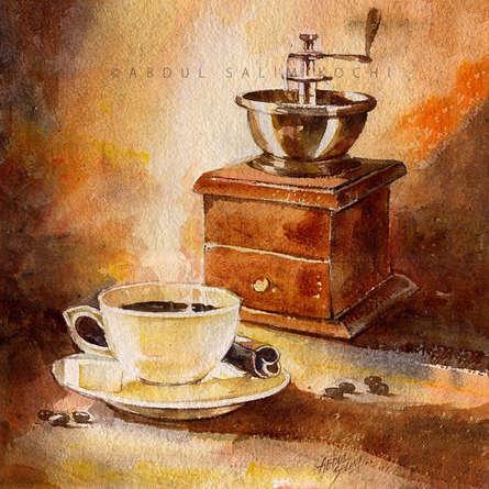 Still-life Watercolor Art Painting title Still Life by artist Abdul Salim