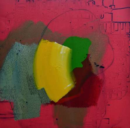 Abstract Acrylic Art Painting title Untitled 5 by artist Mohd Majeed Mansoori