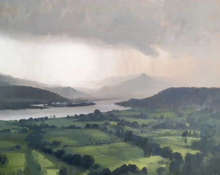 Nature Oil Art Painting title Its Monsoon by artist Paresh Thukrul