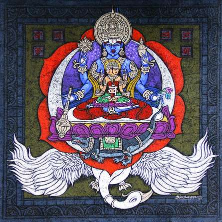 Kunuu Bhushayya | Svadhisthana Chakra Mixed media by artist Kunuu Bhushayya on Canvas | ArtZolo.com