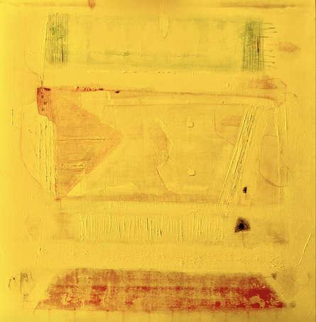 Abstract Acrylic Art Painting title Avkaash 3 by artist Prasad Mane