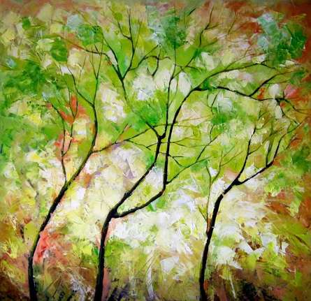 Nature 7   Painting by artist Bahadur Singh   oil   Canvas