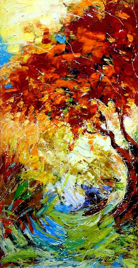 Nature 3 | Painting by artist Bahadur Singh | oil | Canvas