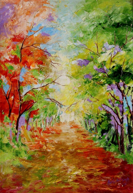 Nature Oil Art Painting title 'Nature IV Replica' by artist Bahadur Singh